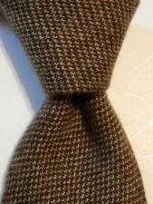STEFANO RICCI Vintage 100% Cashmere Necktie ITALY Luxury Geometric Brown/Tan EUC