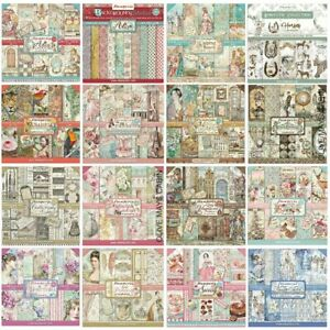 """Stamperia Paper Pads 8 x 8"""" Scrapbook Papers - NEW 2021 DESIGNS Alice"""
