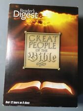 Reader's Digest Great People of the Bible DVD Box Set Pre-owned 6 Disc 12 Hours