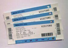 Wolverhampton Wanderers v Aston Villa FC Tickets / Memorabilia Ticket 28/07/15