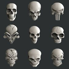 3d STL models for CNC, Artcam, Aspire, relief skulls set