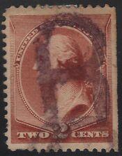 """US Scott # 210 2c Washington Fancy Cancel Purple """"B"""""""