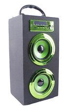 ALTAVOZ PORTATIL TORRE CAJA Bluetooth USB Radio FM SD/TF MP3 Inalambrico Verde