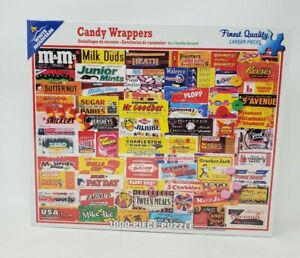 """White Mountain Candy Wrappers 1000 Piece 24"""" x 30"""" jigsaw puzzle #862C"""