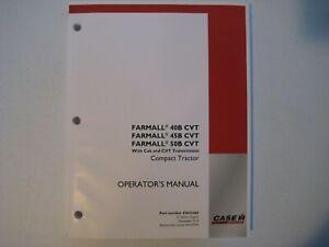 New Case IH Farmall 40B, 45B, 50B CVT Tractors Operator's Manual 47633365