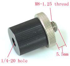 "Metal Adapter unit M8-1.25 male to 1/4""-20 female for tripod head camera monpod"