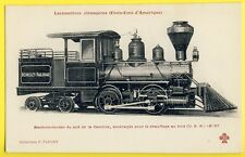 cpa TRAIN LOCOMOTIVE wood heating South Carolina UNITED STATES of AMERICA