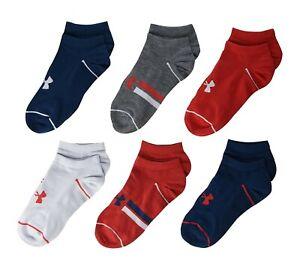 UNDER ARMOUR UA Essential Lite Socks 6 Pairs Youth (4Y-8Y) Men (4-8) Women (6-9)