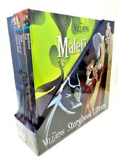 New Sealed Disney Villains Storybook Library 6 Books with Exclusive Maleficent