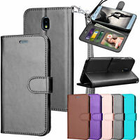 For Samsung Galaxy J7 Crown Shockproof Slim Armor Defender Leather Case Cover