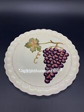 Villa Grande Tabletops Unlimited Large Serving Platter Chop Plate Grape 13""
