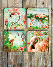 Flamingo Drink Coasters Set of 4 Non Slip Neoprene