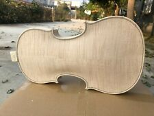 4/4 Violin Unfinished White Violin Body Tiger Flame Maple Spruce Advance #3296
