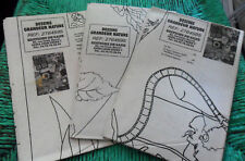 Lot of 3 Editions de Saxe PATTERNS Full Scale For SILK Painting, Unused, Folded
