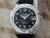 Bulova Snorkel 666 Swiss Made 35mm Automatic 1970s Men's Vintage Watch LV80