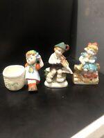 "Made in Occupied Japan TS Vintage 1-Boy 2-Girl Porcelain Figurine 4.5"""