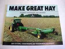 John Deere Hay Cutting & Windrowing Equipment Brochure                      b4