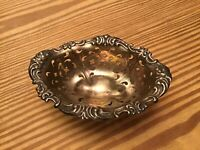 Sterling Silver Scalloped and Footed Bowl, Pierced, 35g