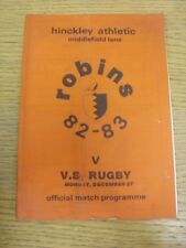 27/12/1982 Hinkley Athletic v VS Rugby  (Creased, Folded). Thanks for viewing th