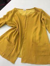 Giacca Donna Blazer Senape giallo Tasche Manicha 3/4 abbigliamento Ada Klementi