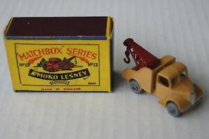 OLD MATCHBOX LESNEY MOKO WRECK TRUCK No.13 (13a) & ORIGINAL BOX