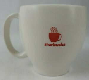 2004 Starbucks Coffee Mug Tea Cup Red Steam Logo Barista Abbey II Collectible