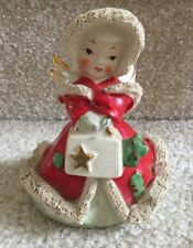 Vintage Angel Carrying Purse or Sachet with Red Cloak/Hood and Spaghetti Trim