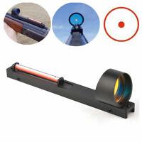 Holographic Red Fiber Dot Reflex Circle Scope Sight For Shotgun Rib Rail Hunting