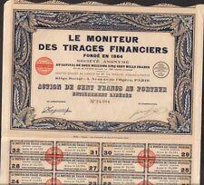 LE MONITEUR DES TIRAGES FINANCIERS (S)