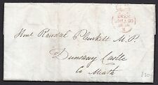 1836 Irish free frank entire to MP R Plunkett from Bandon with dated pmk on back