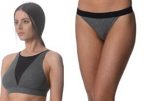 Kit and Ace Grey Black Cashmere blend Bra Top & Pants Briefs Full Set S M L $120