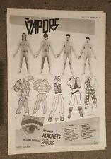 The Vapors tour 1981 press advert Full page 30 x 42 cm mini poster