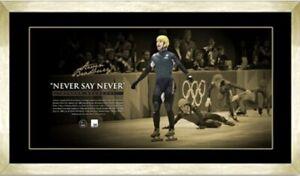 STEVEN BRADBURY AUSTRALIA WINTER OLYMPICS SIGNED FRAMED NEVER SAY NEVER PRINT