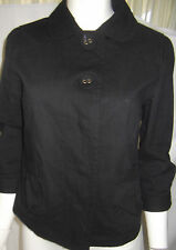 KATIES Womens 3/4 sleeve Black Jacket size 8 - EUC