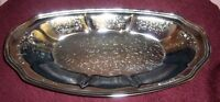 ANTIQUE/VINTAGE SILVER TONE SERVING PLATTER EXCELLENT