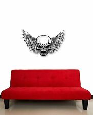 Wall Stickers Vinyl Decal Skull Wings Death Cool Tattoos Decor for Room (ig493)