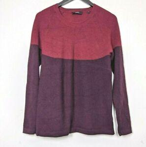 SABA Burgundy Purple Extra Fine Merino Wool Knit Mens Pullover Jumper Size S