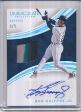 2016 PANINI IMMACULATE KEN GRIFFEY JR. 3 COLOR MATERIAL AUTO 2/5