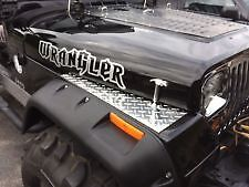 1987 to 1995 JEEP YJ  WRANGLER FENDER TOP COVERS Diamond Plate WOW!!!