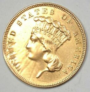 1862 Indian Three Dollar Gold Coin ($3) - XF Details (Repaired) - Civil War Date