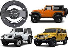 Billet Aluminum Fuel Door Cover For 2007-2017 Jeep Wrangler JK New Free Shipping