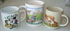 Three Children's vintage pottery Mugs - Made in Australia