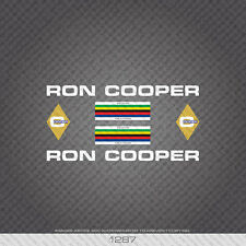 01287 Ron Cooper Bicycle Stickers - Decals - Transfers
