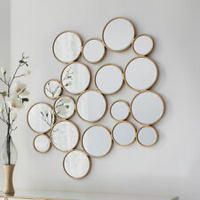 Glass Frame Wall-Mounted Round Decorative Mirrors