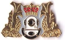 royal navy's diving branch lapel badge RN