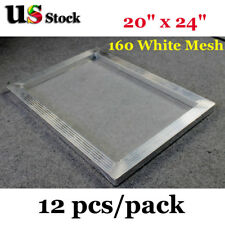 "12pcs* 20"" x 24"" Aluminum Frame Screen Printing with 160 Mesh USA Free Ship"