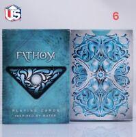Ellusionist FATHOM playing cards Water USPCC Poker size Magic tricks 1 Deck USA
