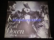 TVXQ Keep Your Head Down Tohoshinki Autographed Signed Promo CD Great DBSK