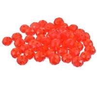 210 Rot Kristall Facettiert Böhmische Glasschliffperlen Beads 8mm L/P