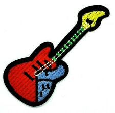 Electric Guitar Applique Patch  Guitarist Badge iron on patches 1750